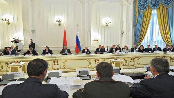Премьер-министр РФ В.Путин проводит Совмин Союзного государства Россия-Белоруссия