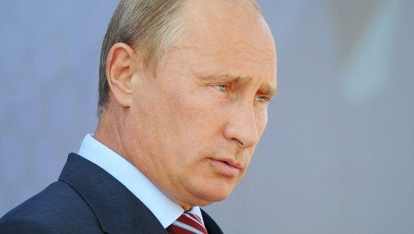 Премьер-министр РФ Владимир Путин на Десятом международном авиасалоне МАКС-2011 в Жуковском