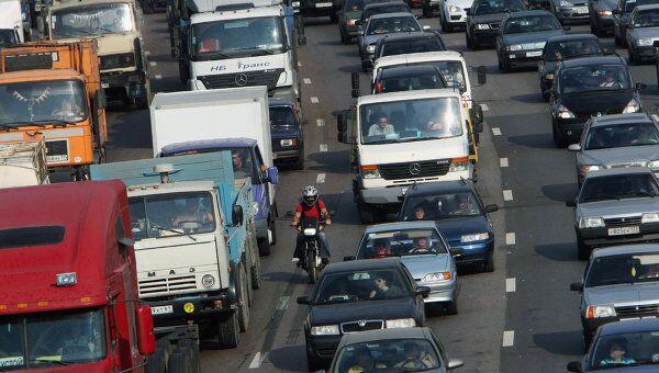 Движение транспорта на МКАД