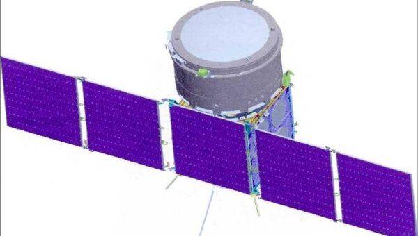 Общий вид космического аппарата Коронас-Нуклон в рабочем положении