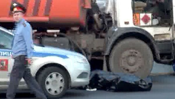 Водитель бензовоза погиб на 11 км МКАД