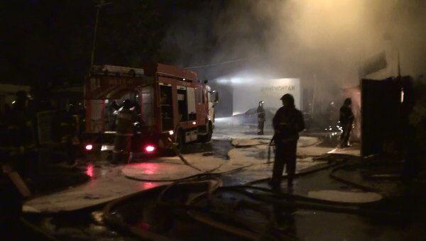 Пожар в сауне в Москве