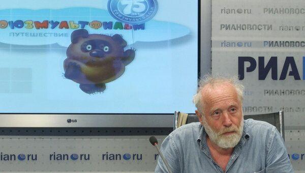 Юрий Норштейн во время видеомоста, посвященном студии Союзмультфильм