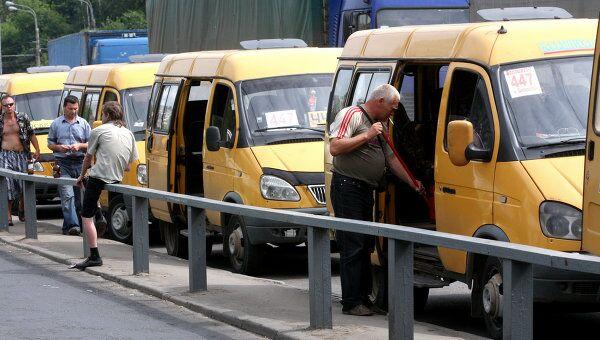 Работа маршрутных такси и автобусов. Архив