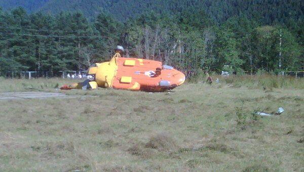 Рухнувший в Архызском ущелье вертолет