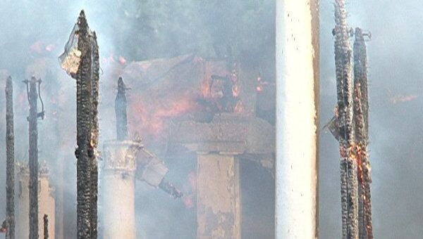 Пожар уничтожил павильон на ВВЦ. Видео с места ЧП