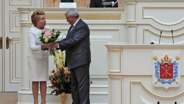 Церемония вступления Георгия Полтавченко в должность губернатора Санкт-Петербурга