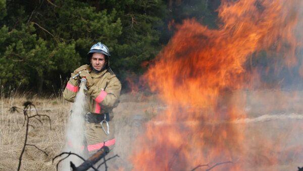 Учения МЧС МО по ликвидации последствий лесных пожаров