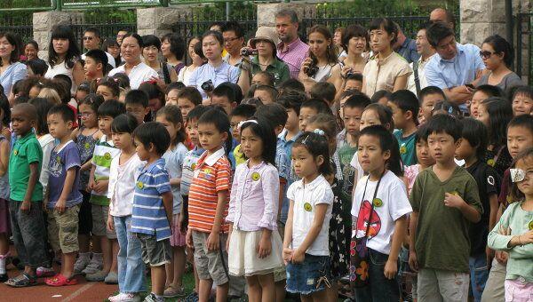 Китайские школьники. Архивное фото