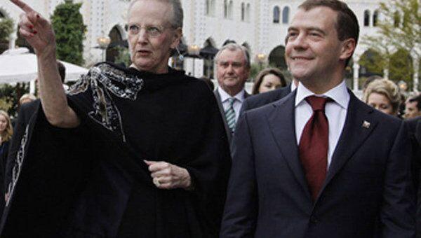 Президент России проведет переговоры с королевой Дании