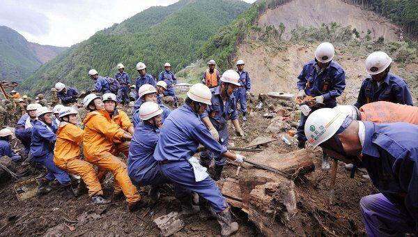 Последствия тайфуна Талас в Японии