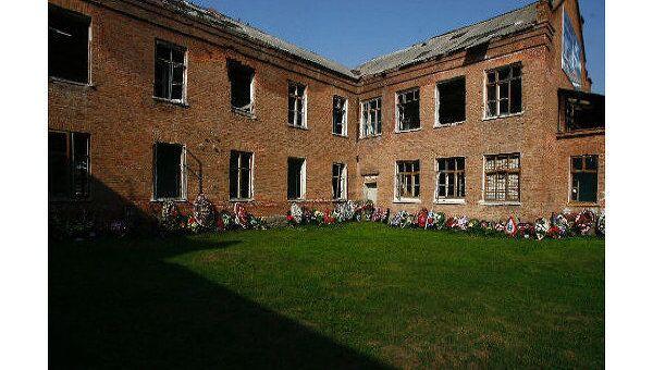 На месте теракта в школе N 1 в Беслане