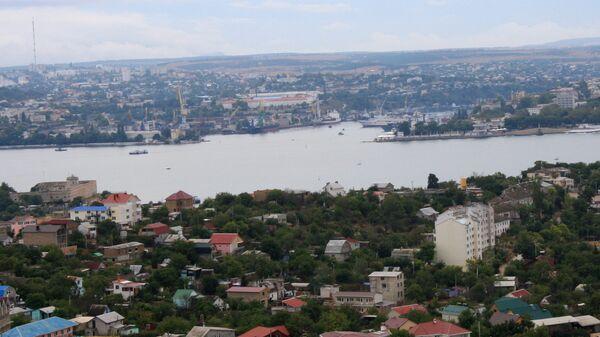 Севастополь с высоты птичьего полета.Город Севастополь на