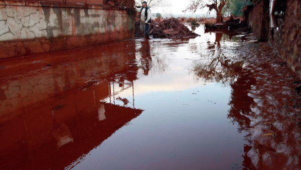 Токсичные отходы затопили несколько населенных пунктов в Венгрии