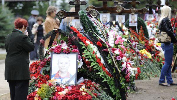 Траурные мероприятия на месте крушения самолета Як-42