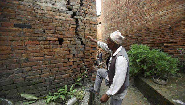 Последствия землетрясения в Индии