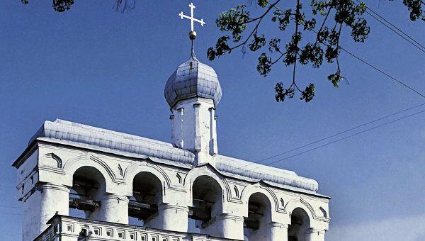 Звонница Софийского собора в Великом Новгороде. Архив