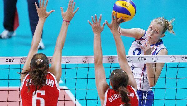 Волейбол. Чемпионат Европы. Матч Россия - Болгария