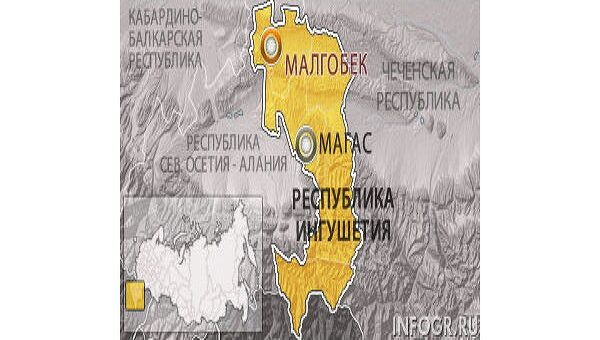 Неизвестные обстреляли машину в Ингушетии, милиционер и его пассажир тяжело ранены