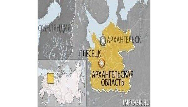 Карта Архангельской области, Плесецк