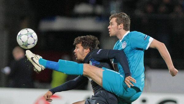 Игровой момент матча Зенит - Порту