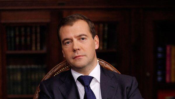 Интервью Д.Медведева главам трех федеральных каналов: Первого, России 1 и НТВ