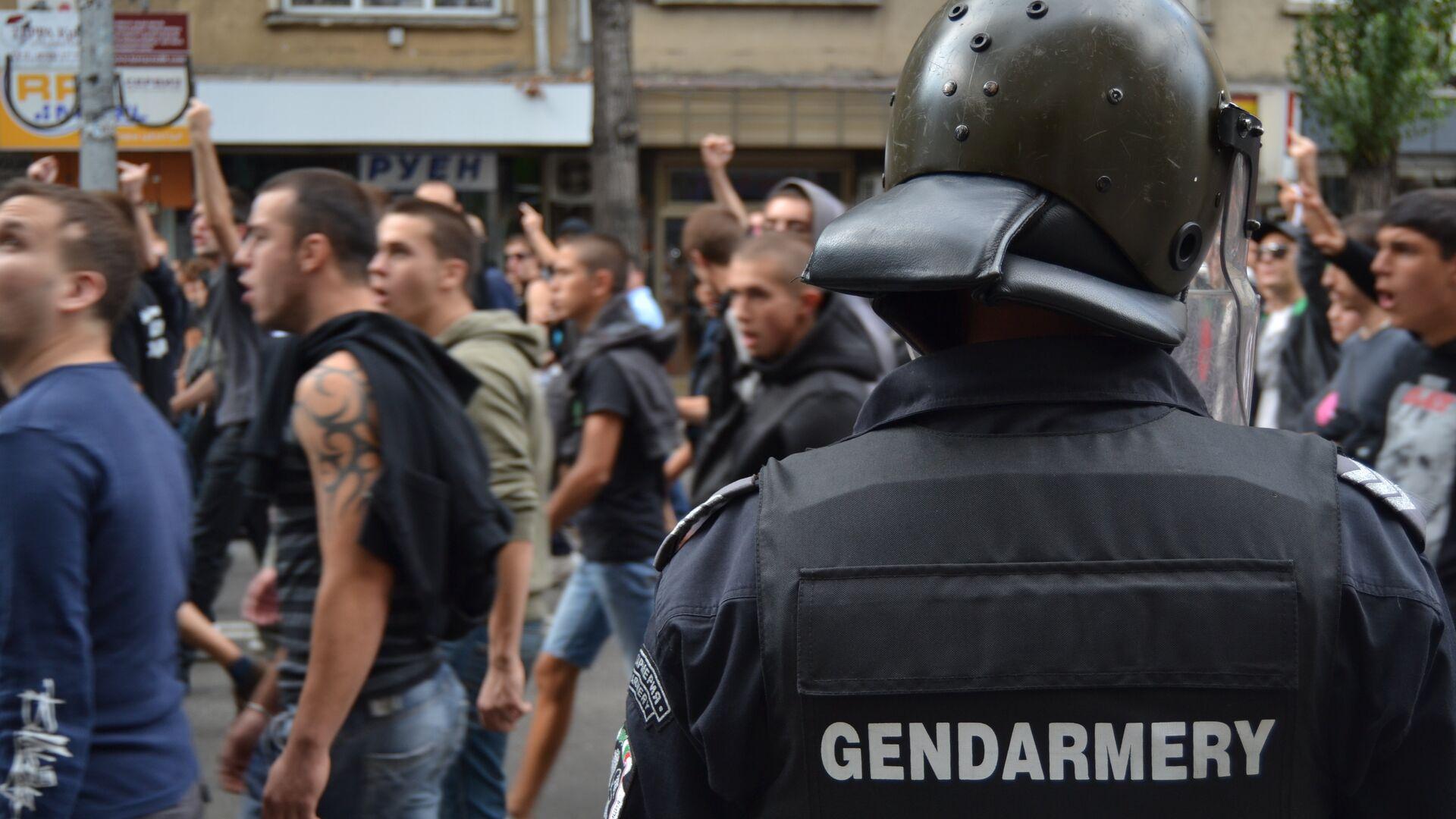 Антицыганский митинг в Софии - РИА Новости, 1920, 01.08.2020