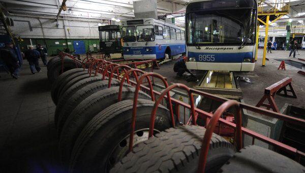 Подготовка подвижного состава ГУП Мосгортранс к осенне-зимнему периоду