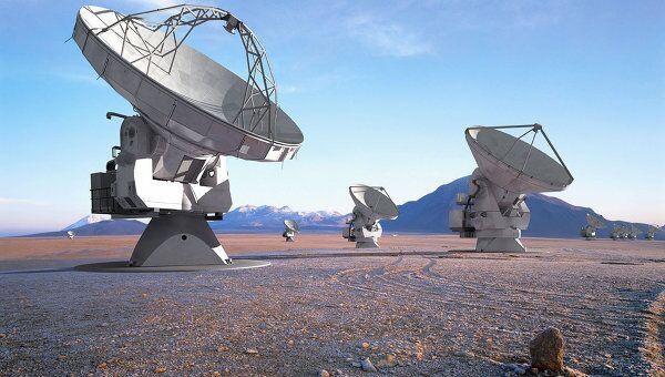 Антенны радиотелескопа ALMA. Архив