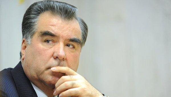 Президент Таджикистана Эмомали Рахмон. Архив