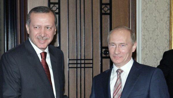 Встреча Владимира Путина с Реджепом Тайипом Эрдоганом. Архив