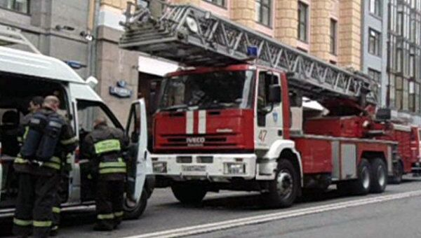 Десять пожарных расчетов приехали тушить небольшой пожар в кабинете Минфина