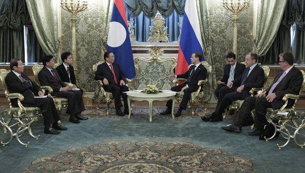 Переговоры Д.Медведева и Т.Сайнясонa в Кремле