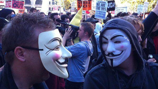 Демонстрация протеста в Лондоне