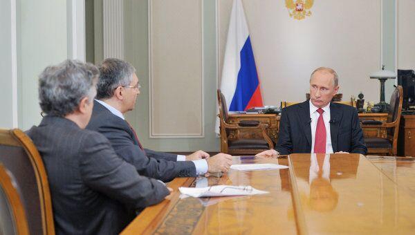 Интервью Владимира Путина федеральным каналам