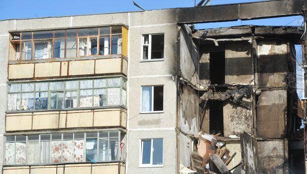 На месте взрыва газа в жилом доме в Бронницах