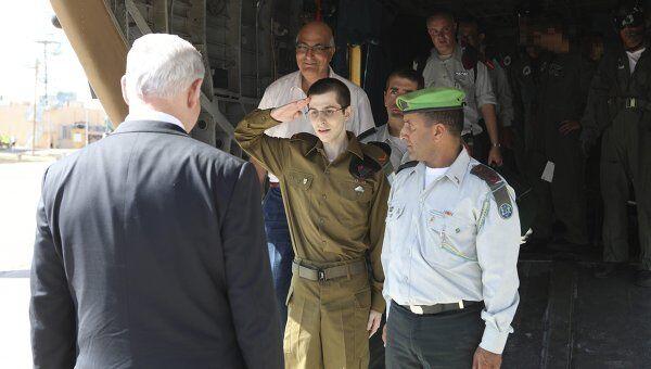 Встреча Гилада Шалита с премьер-министром Израиля Биньямином Нетаньяху