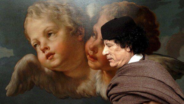 Муамар Каддафи. Фото 27 апреля 2004 г.