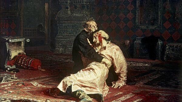 Картина Иван Грозный и сын его Иван 16 ноября 1581 года
