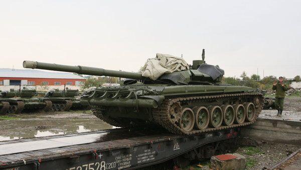 Танк Т-72Б в Чеченской республике. Архивное фото