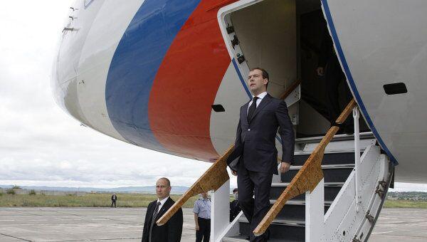 Президент России Дмитрий Медведев прибыл в Туркмению с рабочим визитом