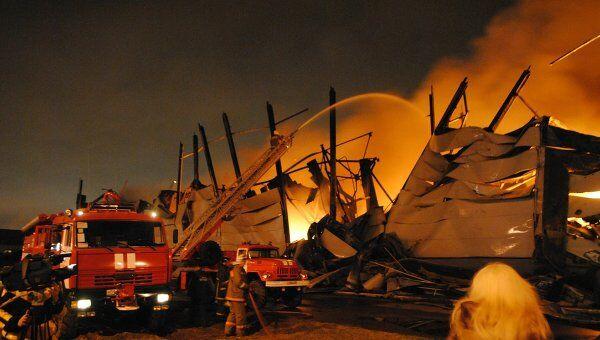Пожар в Томилино