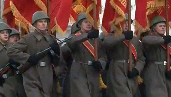 Марш в честь 70-летия парада 1941 года. Видео с Красной площади