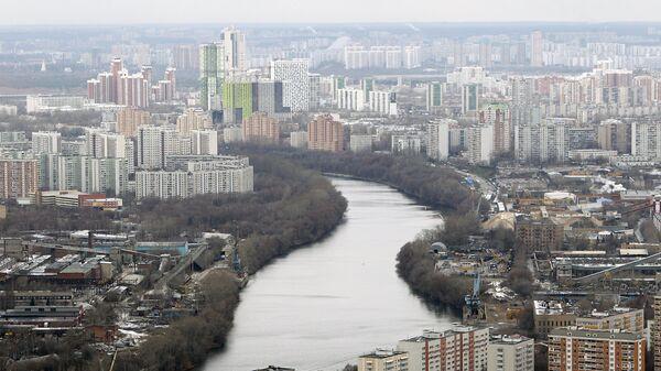 Строительство высотных зданий комплекса Москва-Сити. Архив