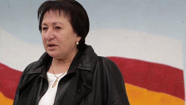 Кандидат в президенты Южной Осетии Алла Джиоева. Архив