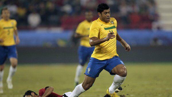 Игровой момент матча Катар - Бразилия