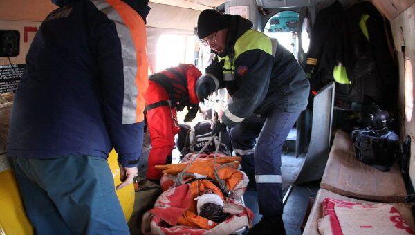 Эвакуация с сухогруза Капитан Кузнецов