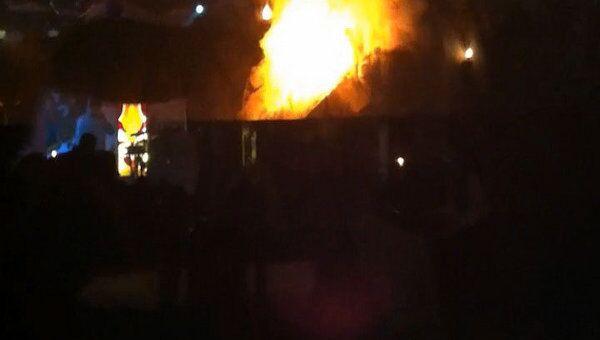 Банный комплекс несколько часов горел в Ростове-на-Дону