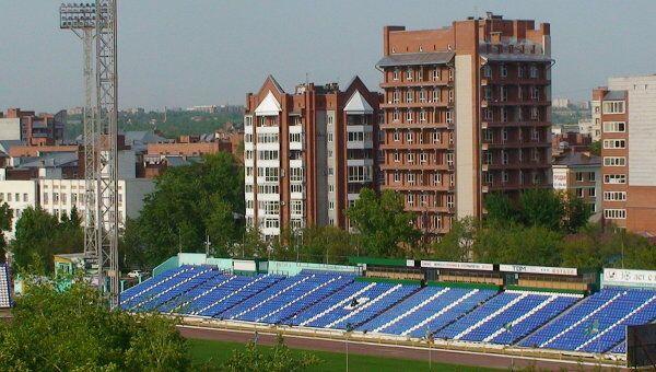 Стадион Труд. Пустые трибуны