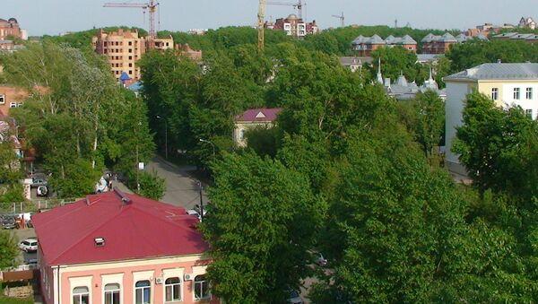 Исторический центр Томска с высоты птичьего полета